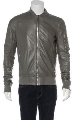 Rick Owens 2017 Ram Leather Bomber Jacket