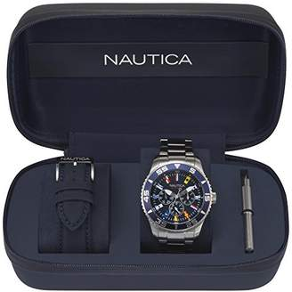 Nautica Men's 'White Cap' Quartz Stainless Steel Sport Watch
