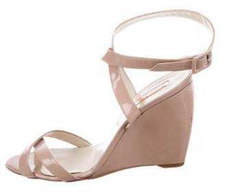 Rupert Sanderson Patent Leather Wedge Sandals