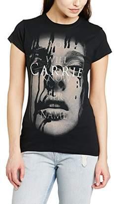 Carrie Women's Face Short Sleeve T-Shirt,(Manufacturer Size:Small)