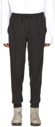 Juun.J Black Wool Drawstring Trousers