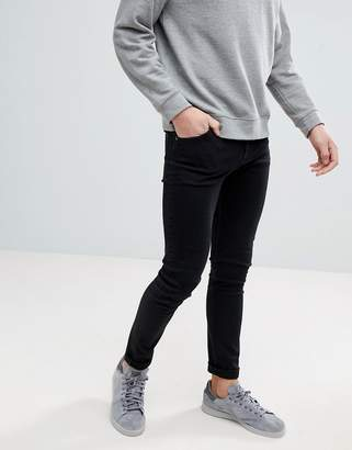 Weekday Form Tuned Black Super Skinny Jeans