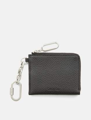 Calvin Klein pebble carabiner key ring card case