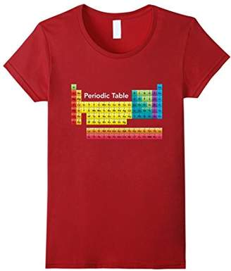 Periodic Table T Shirt Color Coded