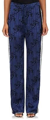 Lanvin Women's Floral & Striped Satin Pants