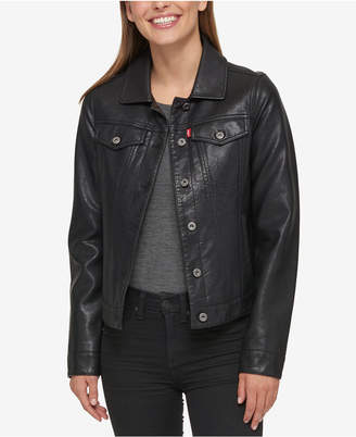 Levi's Buffed Cow Faux-Leather Jacket $180 thestylecure.com
