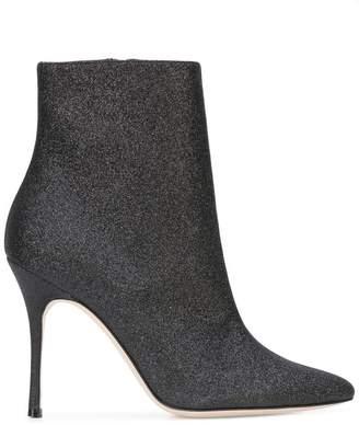 Manolo Blahnik metallic ankle boots