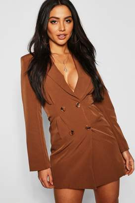 boohoo Utility Double Breasted Blazer Dress