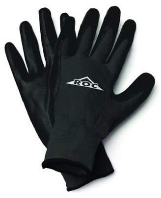 Magid ROC20TXL The Roc Polyurethane Coated Palm, Black Nylon Shell Glove - Extra Large
