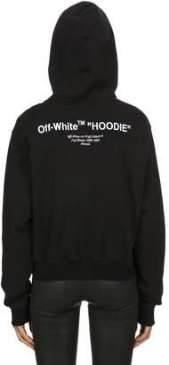 "Off-White ""Hoodie"" Print Cropped Cotton Sweatshirt"