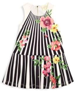 Hannah Banana Little Girl's Floral & Stripe Dress