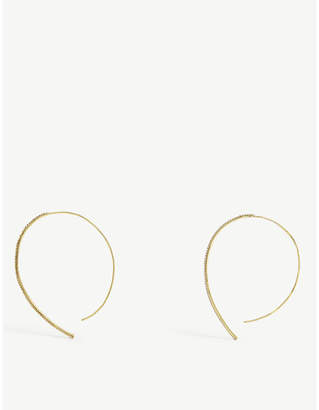 BaubleBar Lumina 18ct gold plated hoops