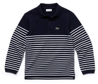 Lacoste (ラコステ) - BOYS ボーダーポロシャツ (長袖)
