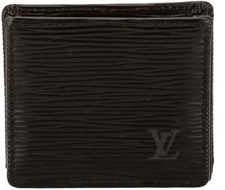 Louis Vuitton Noir Epi Leather Porte-Monnaie Boite Coin Case (Pre Owned)