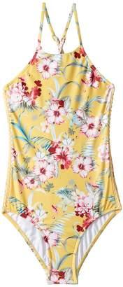 Seafolly Island Hopper High Neck Tank Girl's Swimwear Sets