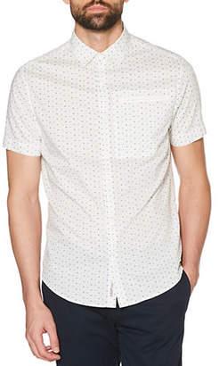 Original Penguin Short Sleeve Geo Print Button-Down Shirt