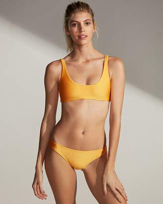 Express Shimmer Scoop Bikini Top