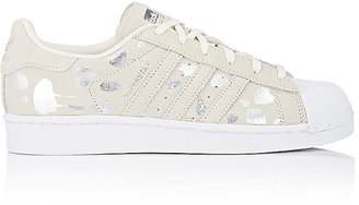adidas Women's Superstar Suede Sneakers-WHITE $85 thestylecure.com