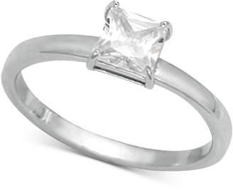 Giani Bernini Cubic Zirconia Square Stone Ring in Sterling Silver