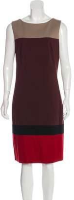Akris Punto Color Block Shift Dress