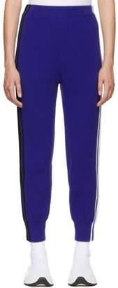 Sjyp Blue Stripe Tape Track Pants