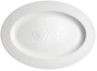 Caskata Personalized Wicker White Oval Platter