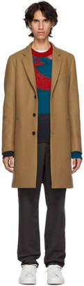 Paul Smith Tan Single-Breasted Coat