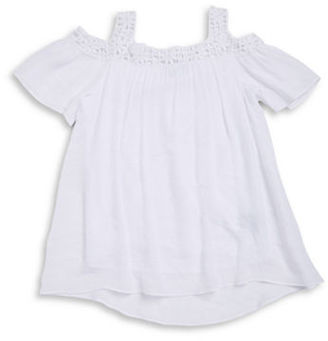 Ally B Girls 7-16 Girls Cold Shoulder Top $38 thestylecure.com