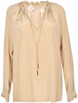 Michael Kors Chain Embellished Blouse