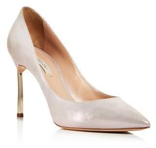 Casadei Women's Jolly Blade Shimmer Suede High-Heel Pumps