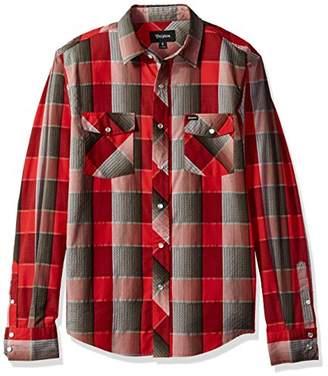 Brixton Men's Wayne Standard Fit Long Sleeve Woven Shirt