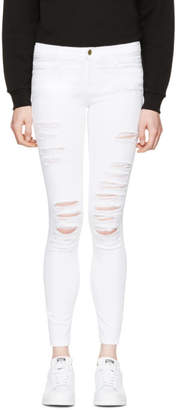 Frame White Le Color Ripped Jeans