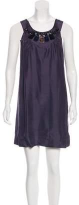 See by Chloe Silk Embellished Mini Dress