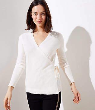 b7352ca4f436b White Wrap Knitwear - ShopStyle