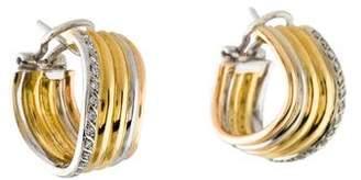 18K Diamond Wavy Hoop Earrings