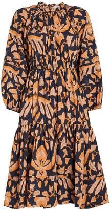 Ulla Johnson Ambre Poplin Printed Midi Dress