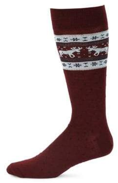 Saks Fifth Avenue COLLECTION Top Moose Fairisle Socks