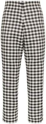 LG Electronics Paskal gingham cropped trousers