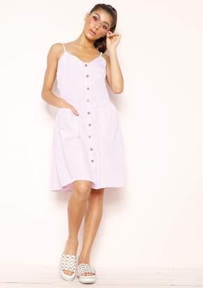 9ae347cd75 Missy Empire Missyempire Marlene Pink Stripe Button Up Dress