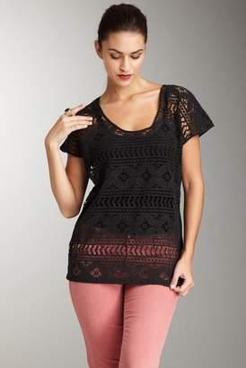 Gold Hawk Crochet Wedge Top