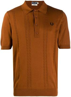 9de623712 Fred Perry cable knitted polo shirt