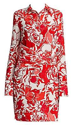 df131cfe7d20 Roberto Cavalli Women's Rose Ruched Shirtdress