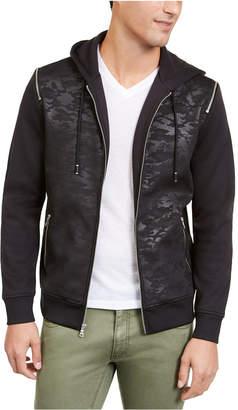 INC International Concepts Inc Men Mesh Camo Hooded Jacket