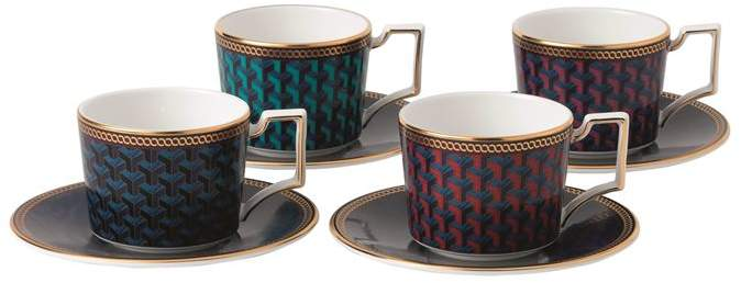 Byzance Espresso Cup and Saucer (Set of 4)