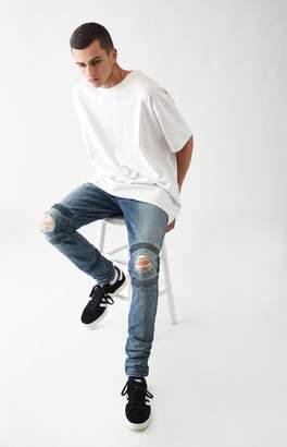 PacSun Stacked Skinny Comfort Stretch Moto Destroy Medium Jeans