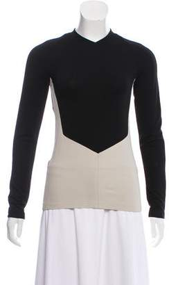 Narciso Rodriguez Long Sleeve Colorblock Top