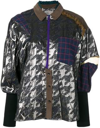 Kolor pattern mesh shirt blouse