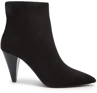 Forever 21 Faux Suede Cone-Heel Booties