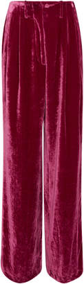 Etro Peggy Wide-Leg Velvet Trousers