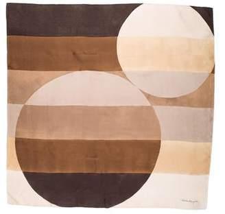 Salvatore Ferragamo Print Silk Scarf
